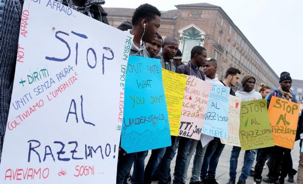 Manifestazione contro il decreto Salvini