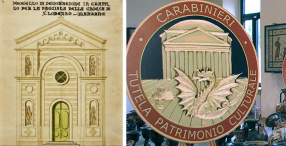 I carabinieri recuperano un prezioso progetto della chiesa di San Lorenzo di Soleschiano