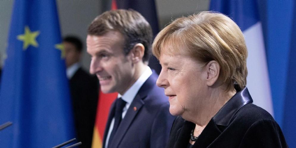 Angela Merkel ed Emmanuel Macron
