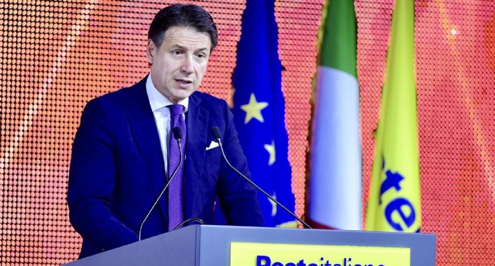 """Il premier Giuseppe Conte, durante l'evento """"Sindaci d'Italia"""""""