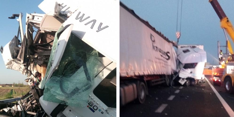 Incidente sull'autostrada A4: tamponamento tra due camion