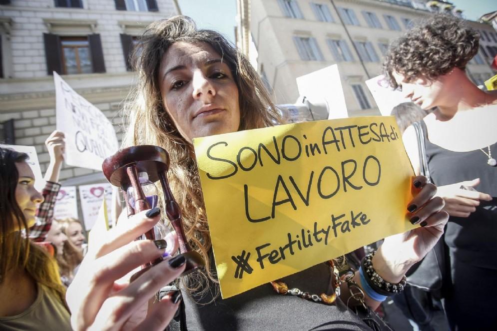 La manifestazione contro il Fertility Day del precedente governo