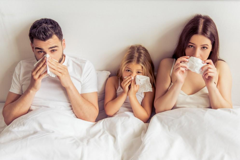 Mezzo milione di italiani a letto con l'influenza