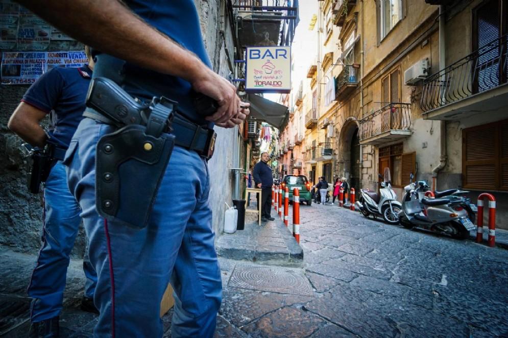 Polizia a Napoli, foto di repertorio