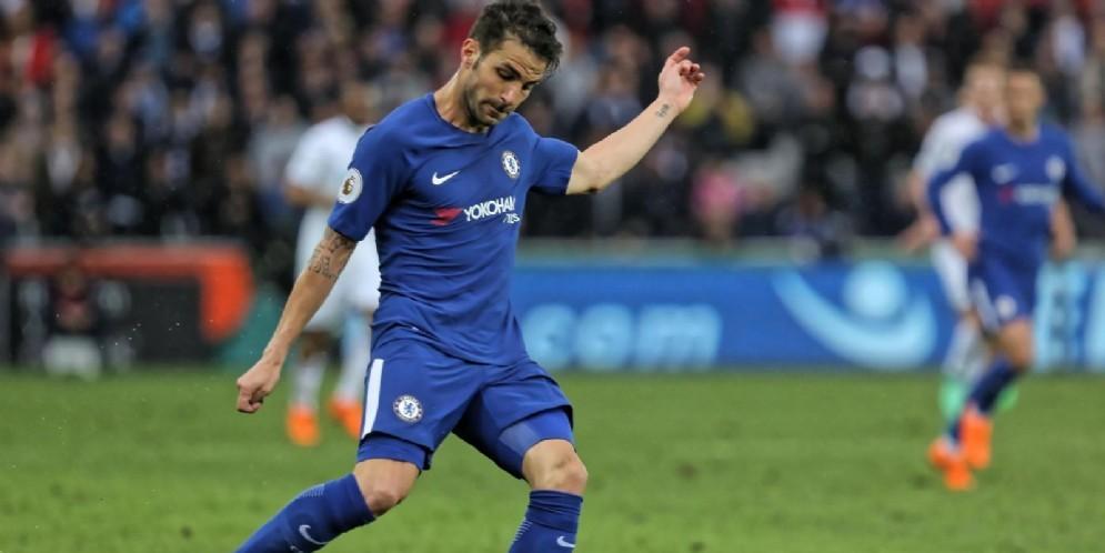 Il centrocampista del Chelsea Cesc Fabregas