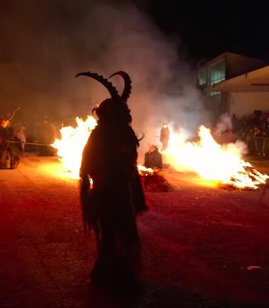 Grande spettacolo per l'esibizione Krampus a Coccau