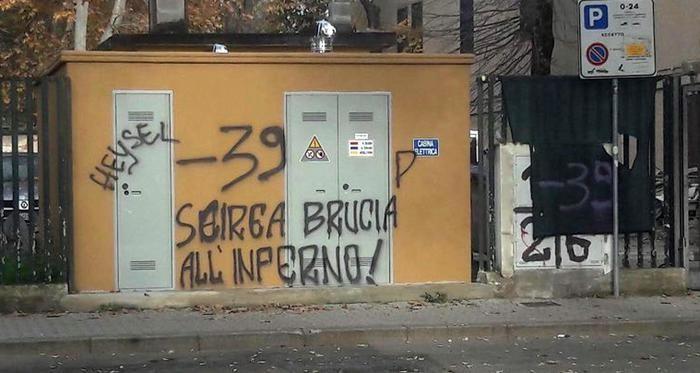 Scritte-choc prima di Fiorentina-Juve