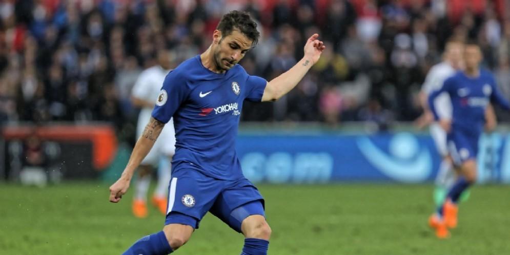 Cesc Fabregas, centrocampista spagnolo del Chelsea, obiettivo di mercato del Milan per gennaio