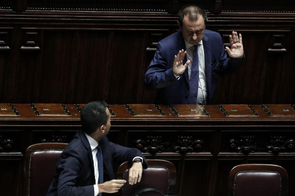 Il deputato Pd Ettore Rosato con il vicepremier Luigi Di Maio