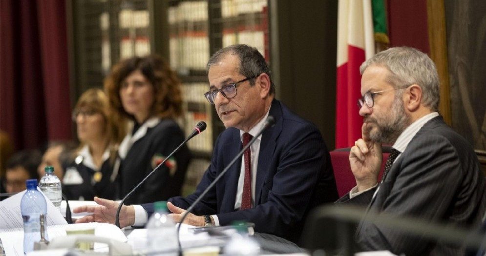 Il ministro dell'Economia, Giovanni Tria, interviene sulla manovra in commissione Bilancio della Camera