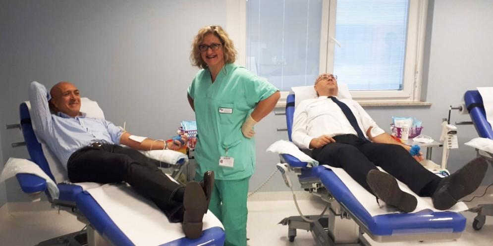 Donazione di sangue a Gorizia: protagoniste le forze di polizia