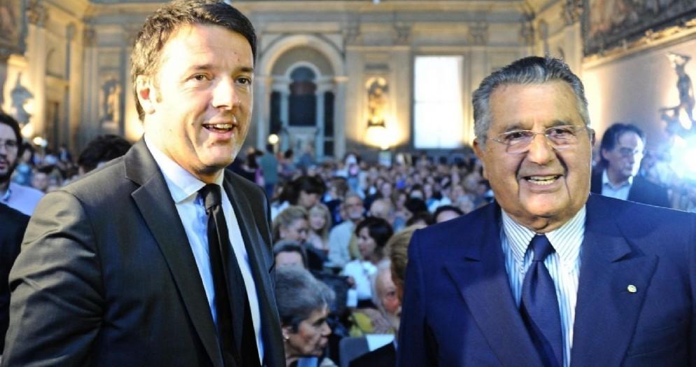 Matteo Renzi con Carlo De Benedetti