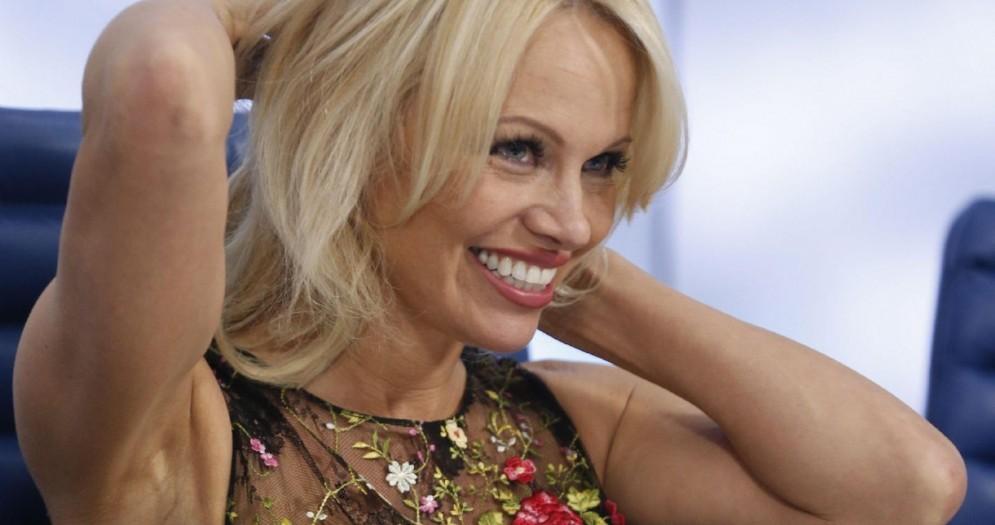 La modella, attrice e showgirl Pamela Anderson