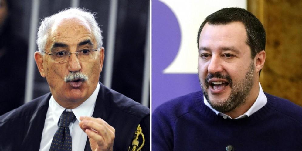 Il procuratore di Torino Armando Spataro e il ministro degli Interni Matteo Salvini