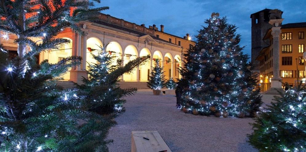 Bluenergy porta nel cuore di Udine un 'bosco di Natale'