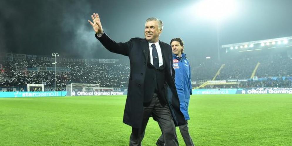 L'allenatore del Napoli, Carlo Ancelotti