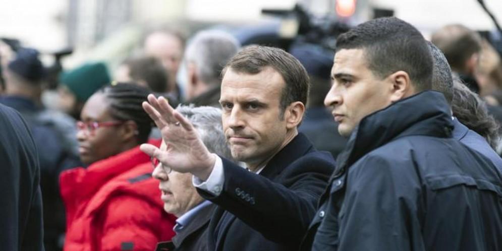 Il Presidente francese, Emmanuel Macron