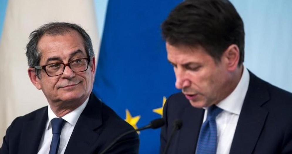 Il Ministro Giovanni Tria con il Premier, Giuseppe Conte
