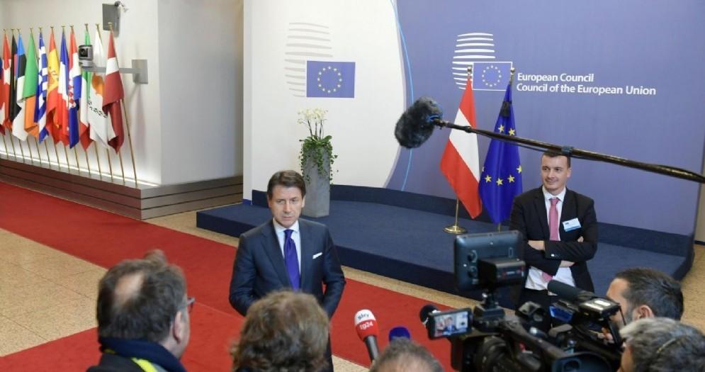 Il premier Giuseppe Conte a Bruxelles