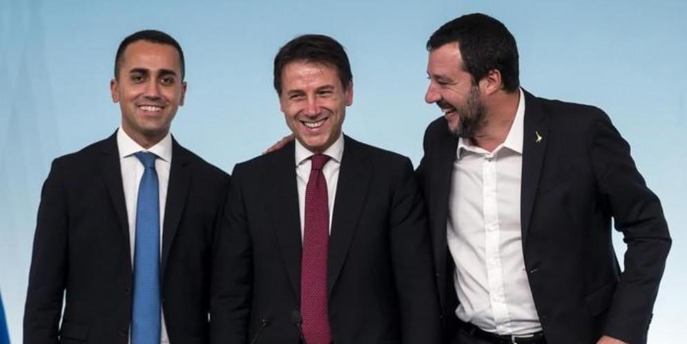 Luigi Di Maio, Giuseppe Conte e Matteo Salvini