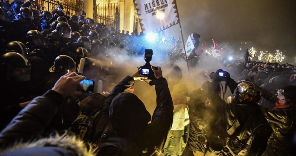 Manifestazione anti-Orban a Budapest
