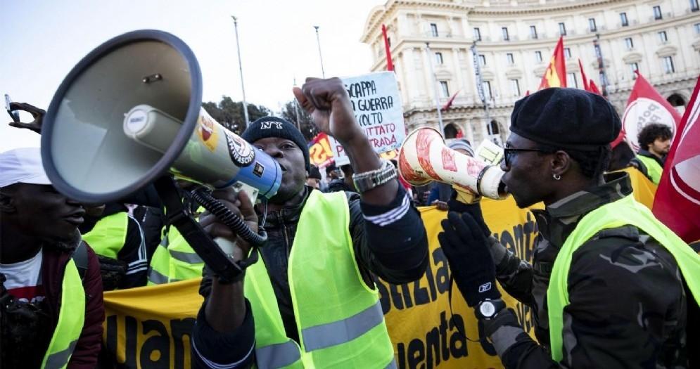 Manifestazione contro ogni forma di razzismo a Roma