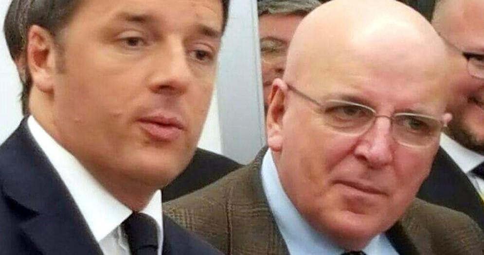 Il Presidente della Regione Calabria, Mario Oliverio, con Matteo Renzi a Cosenza