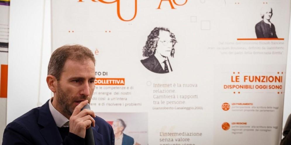 Davide Casaleggio al Rousseau City Lab del M5S a Napoli dedicato all'ambiente