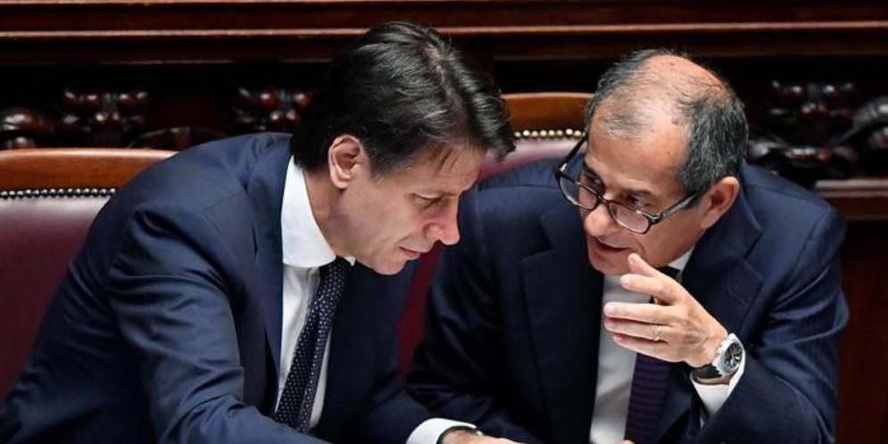 Il Premier Giuseppe Conte con il Ministro Tria