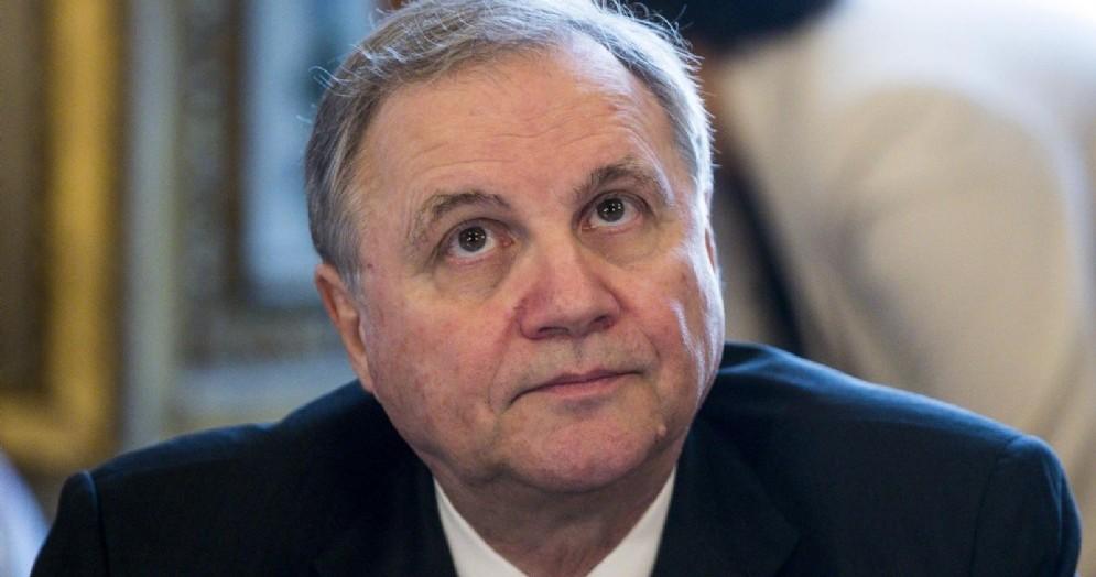 Il governatore della Banca d'Italia Ignazio Visco durante il comitato esecutivo ABI