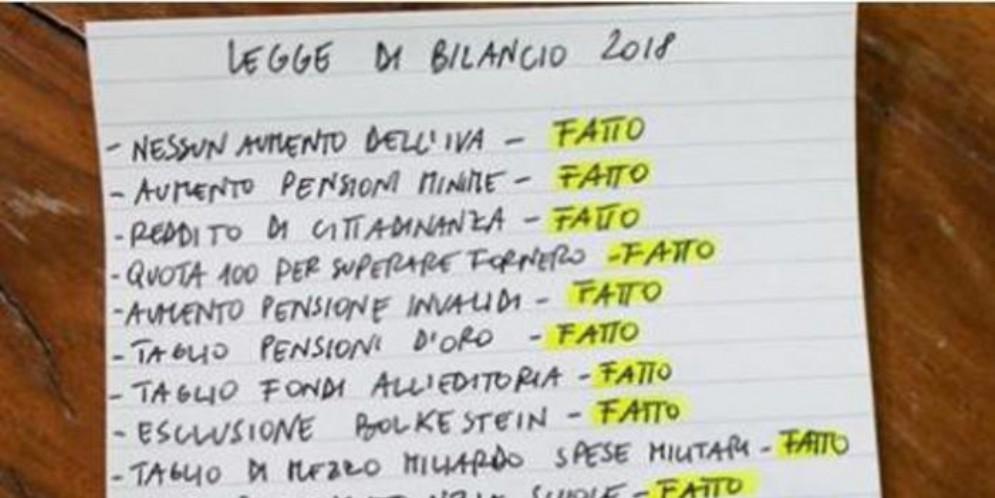 Manovra, Di Maio pubblica l'elenco delle «cose fatte». E' proprio tutto vero?