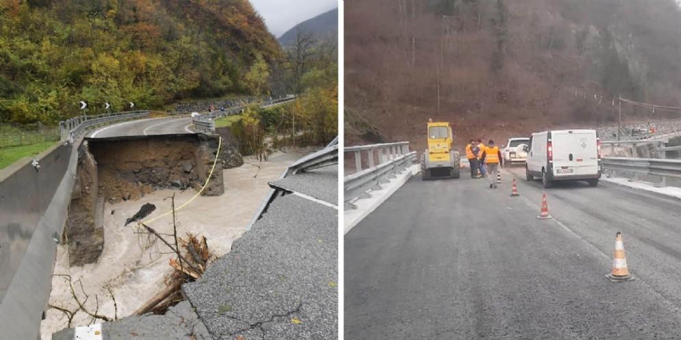 Maltempo: dopo due mesi ricostruito il ponte di Comeglians