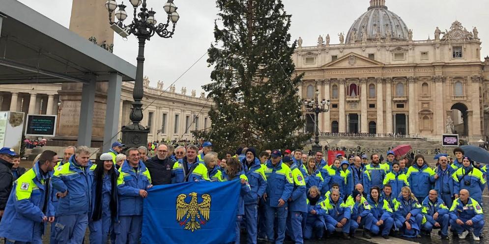 Protezione Civile in udienza dal Papa: presenti anche i volontari del Fvg