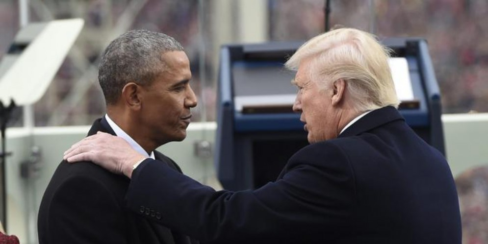 Barack Obama e Donald Trump