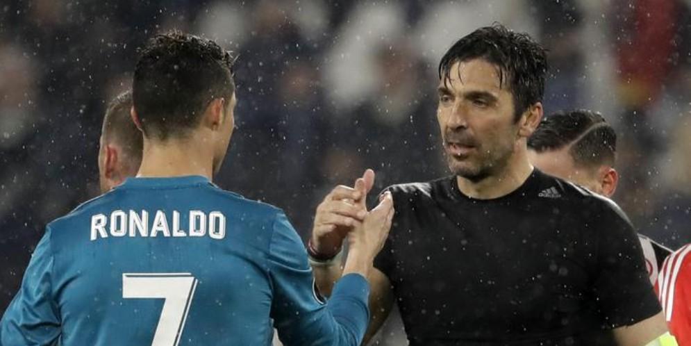 Cristiano Ronaldo e Gianluigi Buffon