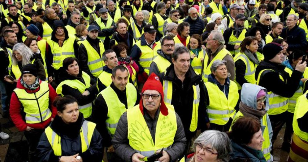 Manifestazione dei «gilet gialli» in Francia
