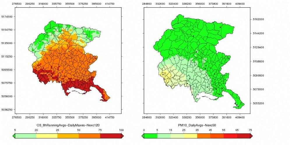 Qualità dell'aria in Fvg: nel 2018 meno polveri sottili ma più ozono