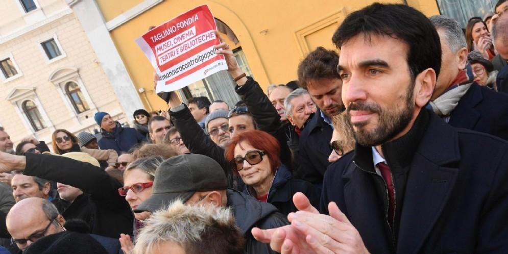 Il candidato segretario del Pd Maurizio Martina