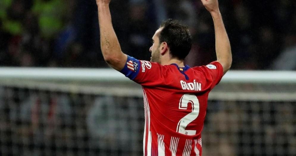 Diego Godin, capitano dell'Atletico Madrid in scadenza di contratto