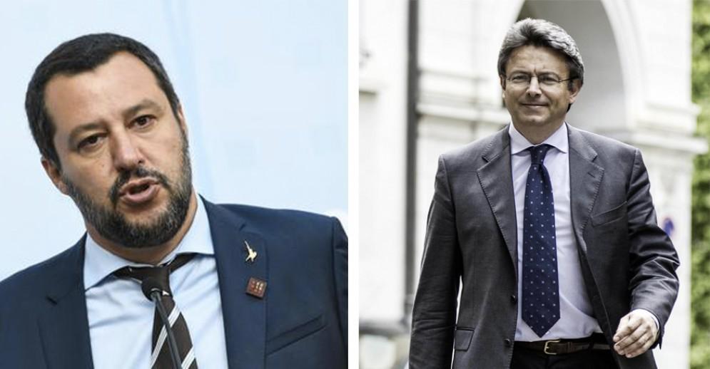Matteo Salvini e Marco Cavicchioli