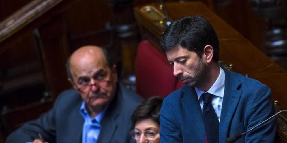 Roberto Speranza con Pierluigi Bersani