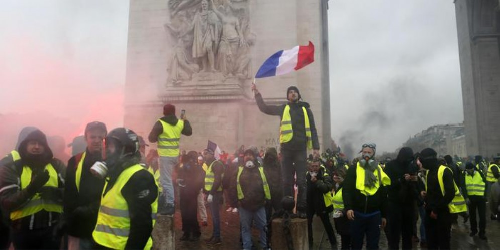 Manifestazione dei Gilet gialli a Parigi