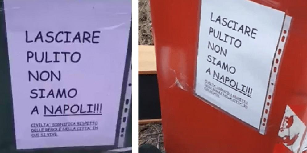 «Lasciare pulito. Non siamo a Napoli». E scoppia la polemica