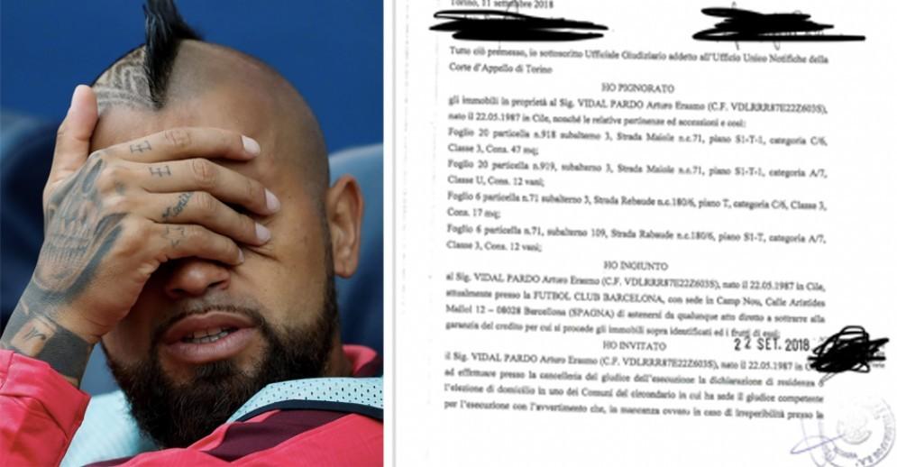 Vidal, guai a Torino: pignorati quattro immobili per un debito non pagato