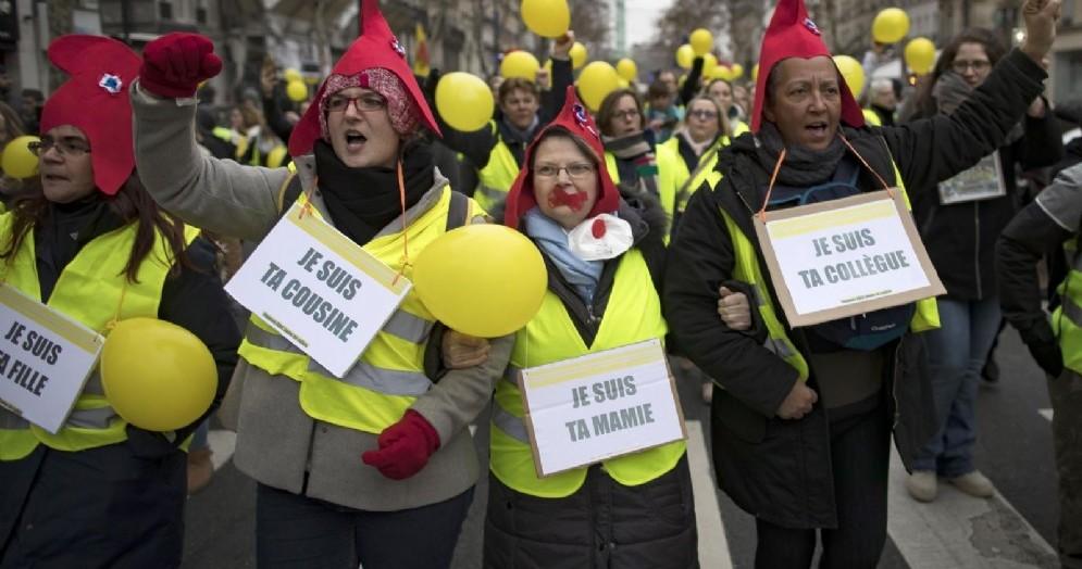 Protesta dei gilet gialli a Parigi