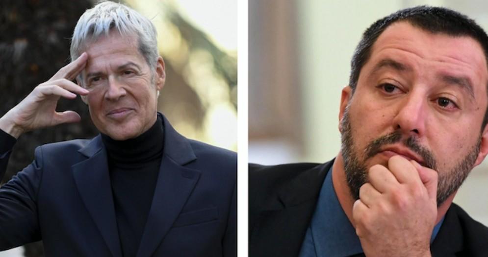 Claudio Baglioni e il ministro Matteo Salvini