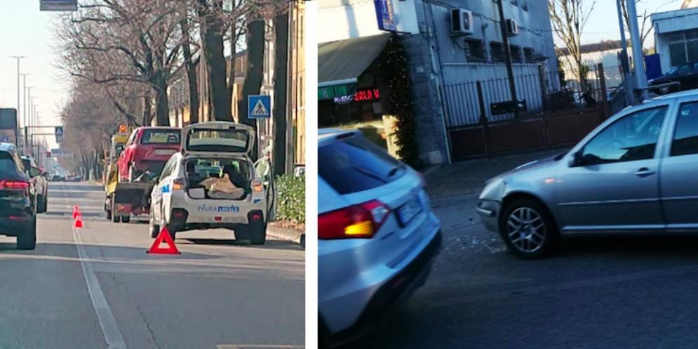 Doppio incidente in città: due persone ferite