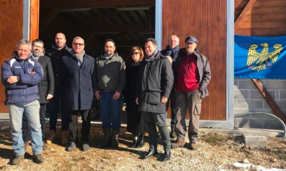 Delegazione del Fvg in visita nell'Umbria terremotata che rinasce