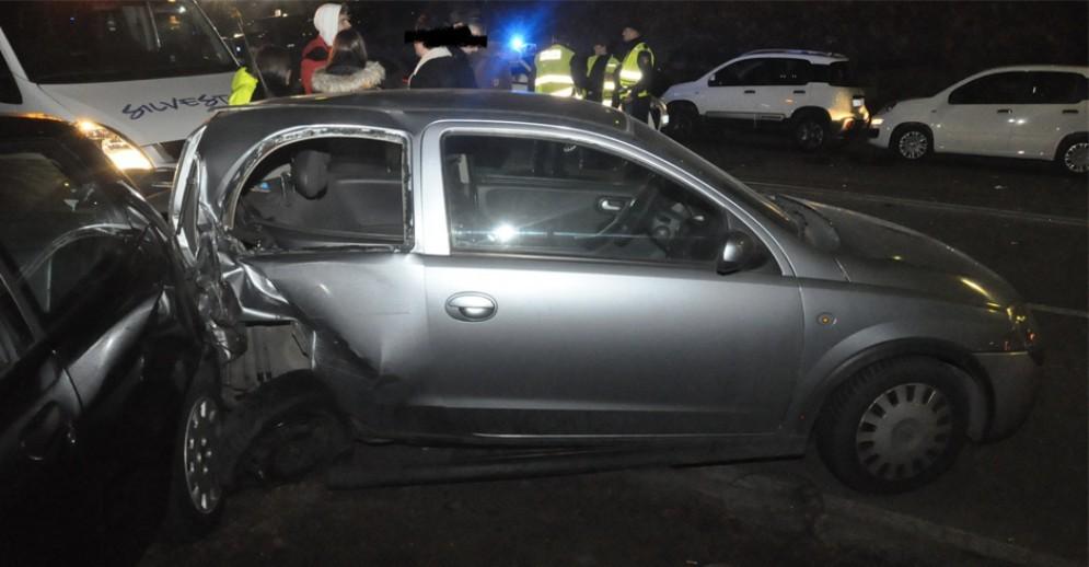 Incidente e maxi carambola in corso Moncalieri: danneggiate 9 auto