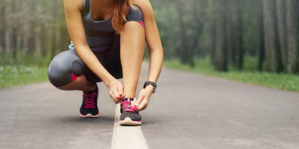 Runner alla maratona